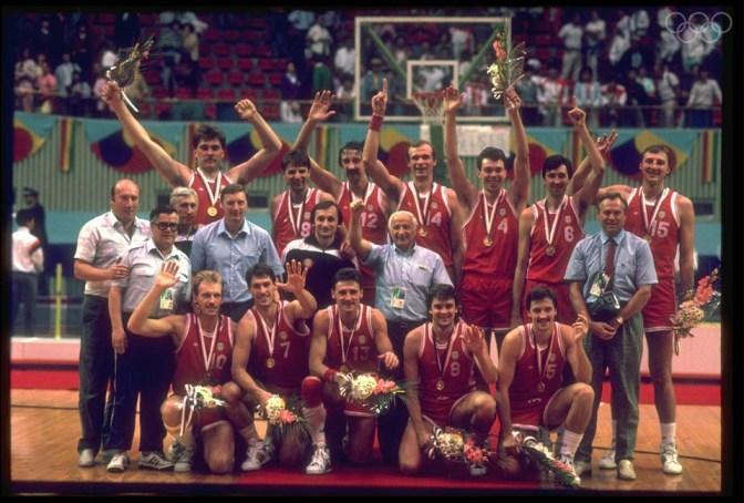 BASKETBALL TEAM USSR GOLD