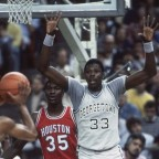 Final NCAA 1984; Georgetown vs Houston (Ewing vs Olajuwon). Partido íntegro