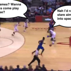 Tómatelo con humor. James Harden ese defensor feroz