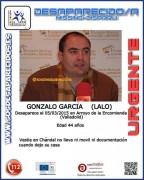 Continúa la búsqueda de Lalo García.
