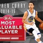 Steph Curry, MVP de la temporada