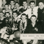 Milan High School vs Muncie Central, 1954. El partido de Hoosiers